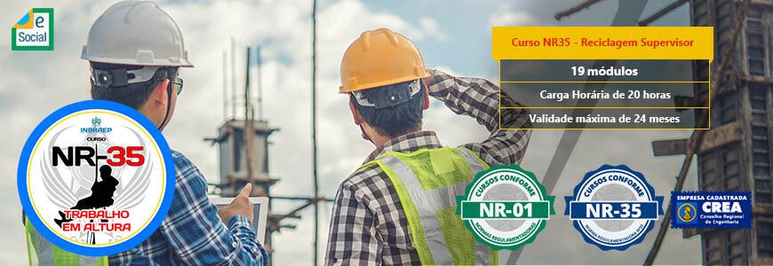 NR 35 - Reciclagem Supervisor de Trabalho em Altura